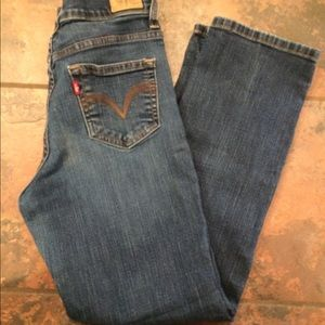 Levi's perfectly slimming straight jeans size 9